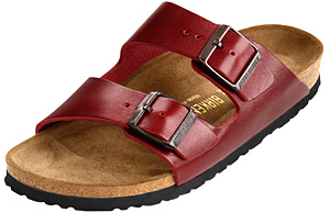 Birkenstock  Bordeaux Soft Gloss Leather  Arizona