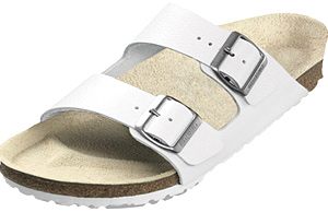 Birkenstock  White Leather  Arizona
