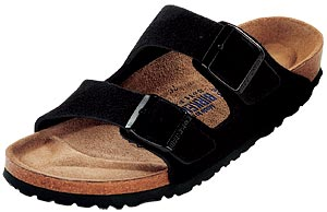 Birkenstock Soft Footbed Black Suede  Arizona